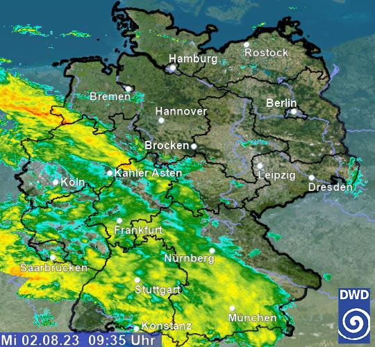 Radarbild Wetter Berlin